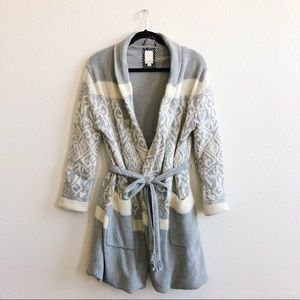 Anthropologie E by Eloise Intarsia Sweater Robe